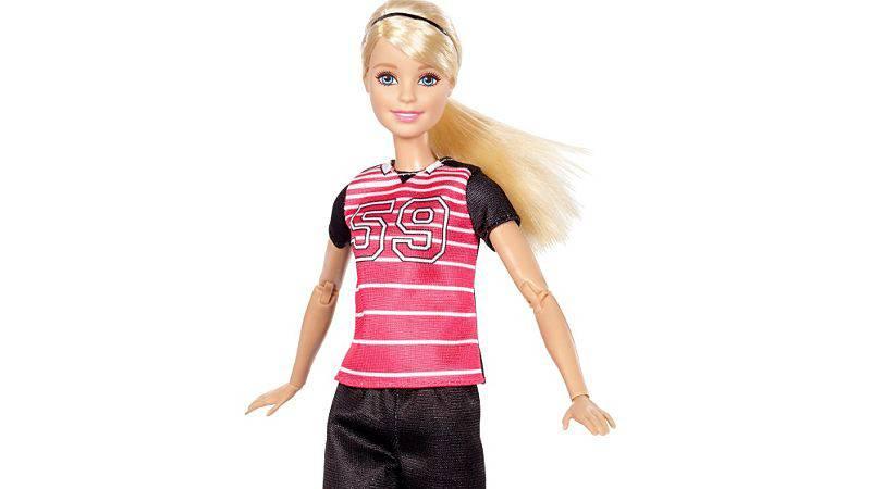 Barbie als Fussballerin (© barbie.mattel.com)