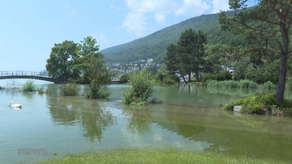 Zivilschutzkontrolle: Hochwassersituation am Bielersee bleibt angespannt