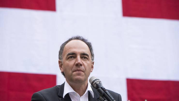 CVP-Präsident Christphe Darbellay sprach in Kippel, im Lötschental.