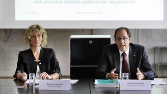 Noch vereint: Adrian Schmitter und seine Chefin Susanne Hochuli.