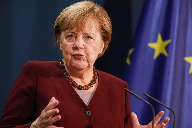 Bundeskanzlerin Angela Merkel bei einer Videokonferenz im November 2020. (Archivild: Keystone)
