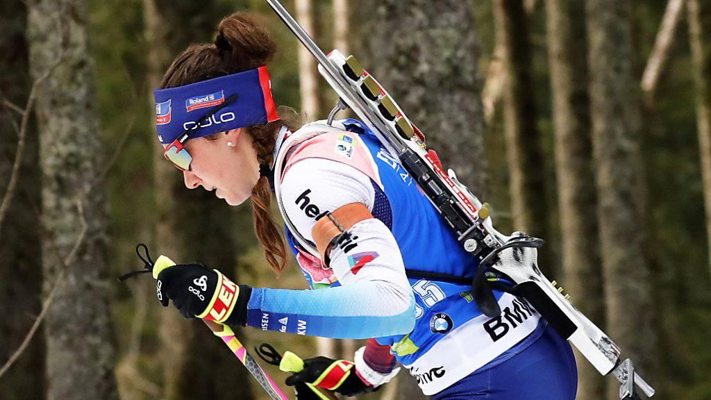 Aita Gasparin läuft im Sprint auf den 21. Platz