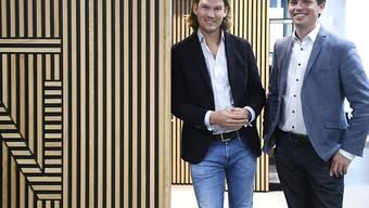 N26-Gründer Valentin Stalf (links) und General Manager Georg Hauer im Oktober 2019 in Wien (Archivbild).