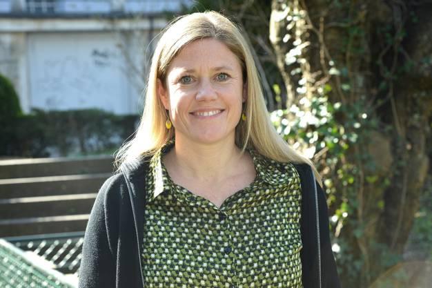 Die neue Präsidentin des Vereins Erlebnisraum Tafeljura Florence Brenzikofer freut sich über die kurz bevorstehende Bluescht.