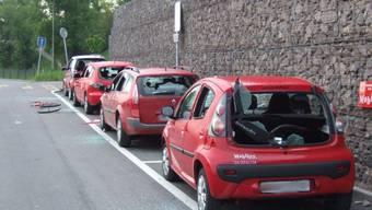 Mobility-Autos in Liestal massiv beschädigt