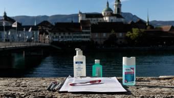 In Solothurn gingen sie auf die Strasse, um Unterschriften für die Renteninitiative zu sammeln.