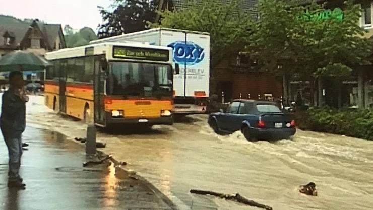 Diese Szenen stammen aus dem Film zum Hochwasser im Jahr 1999.