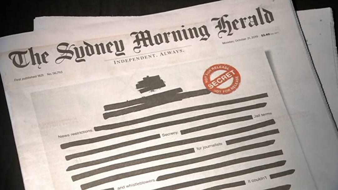 Schwarze Titelseiten in Australien - Angst um die Pressefreiheit