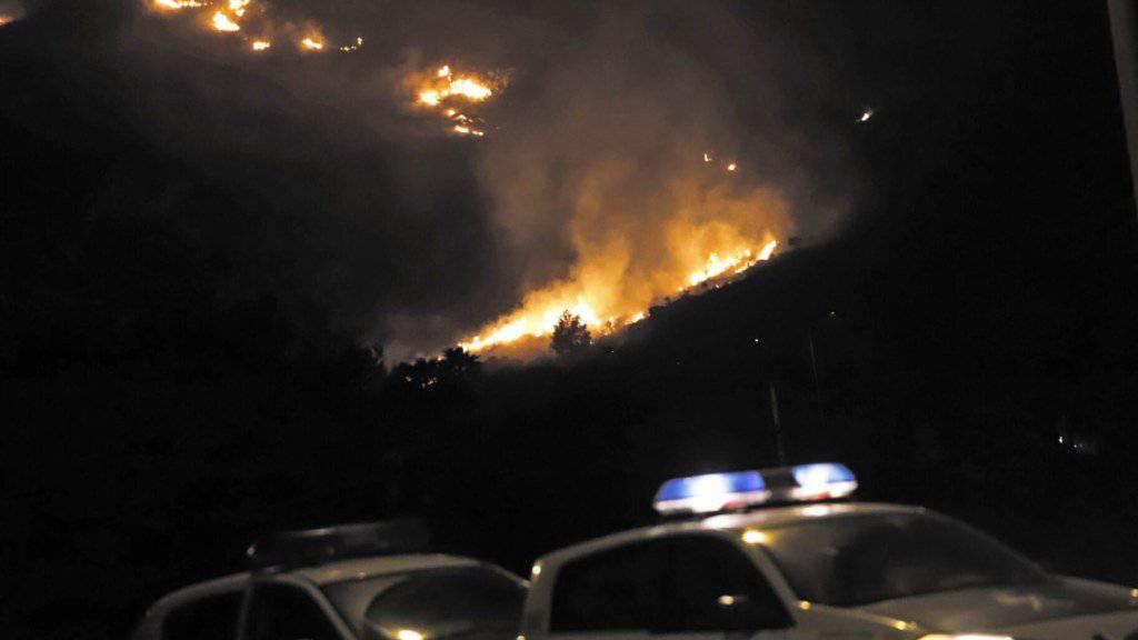 Auf Mallorca haben am Donnerstagabend starke Windböen einen Waldbrand entfacht. Die spanische Polizei musste etliche Wohnungen evakuieren.
