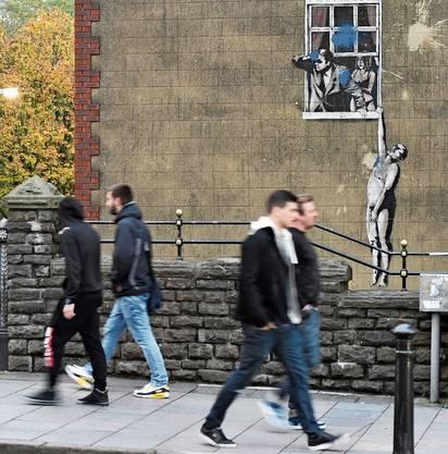 Kunst auf der Strasse: In Bristol ziert die Street-Art von Banksy die Hauswände.