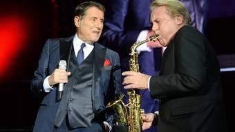 Die letzte gemeinsame Tournee: Udo Jürgens und Pepe Lienhard Anfang Dezember in Salzburg.
