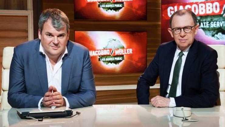 Am 27. Januar 2008 flimmerte «Giacobbo/Müller» zum ersten Mal über die Bildschirme. Doch kommenden Sonntag macht die Comedy-Show Schluss. (Archivbild)