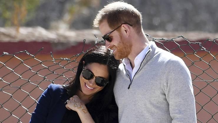 Die schwangere Meghan und ihr Ehemann, Prinz Harry.