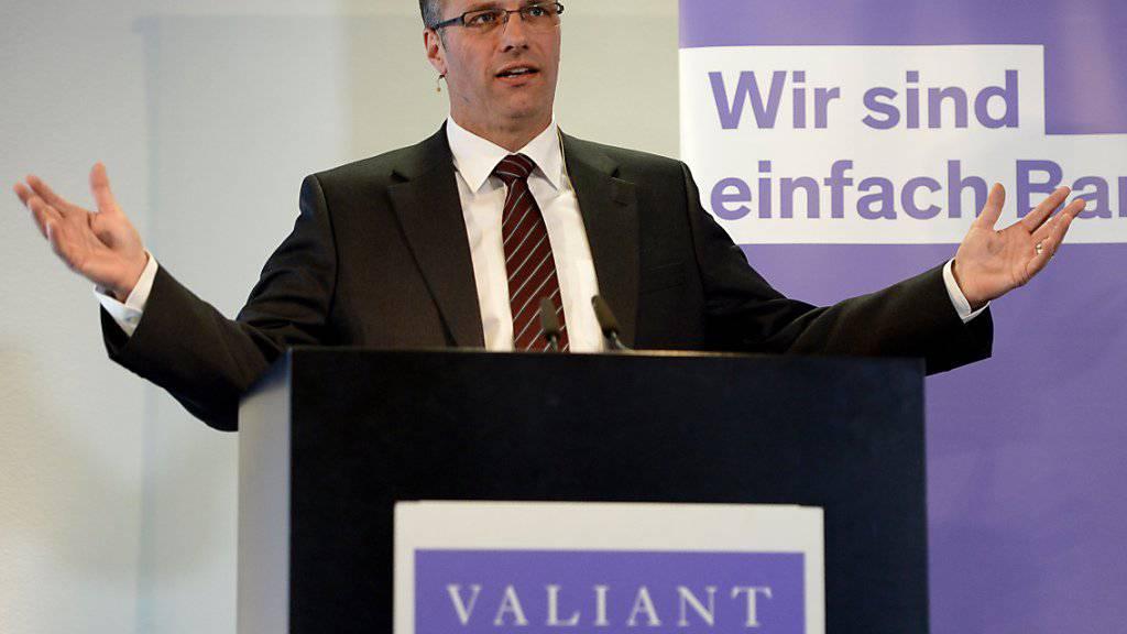 Valiant-Chef Markus Gygax - hier an der letztjährigen Bilanzmedienkonferenz - kann dieses Jahr erneut ein besseres Ergebnis präsentieren.
