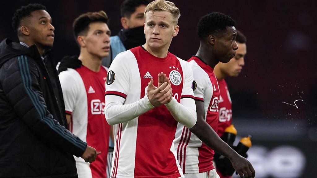 Donny van de Beek zieht es von Amsterdam auf die Insel zu Manchester United