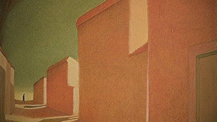 Unheimlich schön und typisch für Rojo: Der «Spalier der Unbekannten» von 1982 ist einfach konstruiert, aber wie raffiniert sind die Schatten gesetzt, wie unheimlich wirkt die Szenerie.