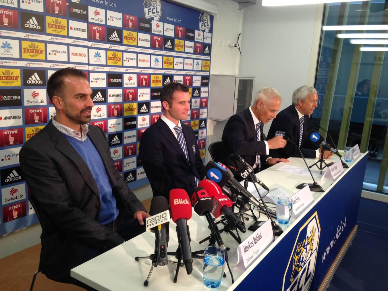 13.10.2014: Der neue FCL-Trainer Markus Babbel wird an einer Medienkonferenz vorgestellt.