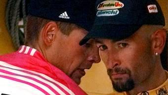 Jahre später ergeben Nach-Untersuchungen, dass auch Gesamtsieger Marco Pantani (rechts) und der Zweitplatzierte Jan Ullrich 1998 an der Tour de France EPO im Blut hatten