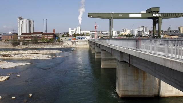 Das Wasserkraftwerk Rheinfelden (Archiv)