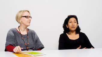 «Wir wollen den Kindern zeigen, dass das Leben schön sein kann», sagen Jael Bueno (rechts), Betriebsleiterin des Frauenhauses Aargau-Solothurn, und Bianka Hubert, zuständig für Kommunikation und Personelles.  emanuel freudiger