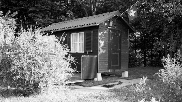 In diesem Waldhaus wurden am Pfingstwochenende im Jahr 1976 fünf Mitglieder der Familie Siegrist erschossen.