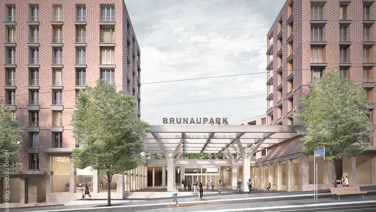 So soll der neue Brunaupark aussehen.