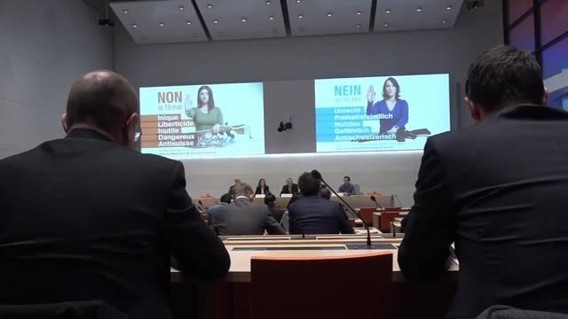Nein-Komitee gegen Waffenrichtlinie startet Abstimmungskampf