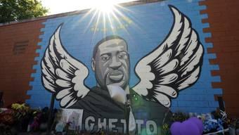 George Floyd wurde an einer Mauer in Houston verewigt.