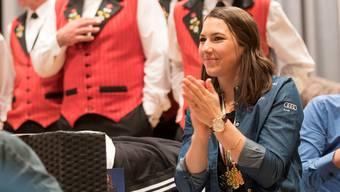 Kehrt nach den Medaillen-Festivitäten wieder auf die Rennpiste zurück: Wendy Holdener.