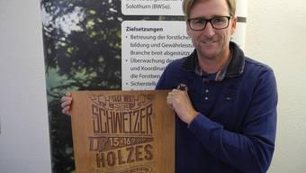 Holz ist mehr als nur heimelig: Patrick von Däniken, Mit- organisator der Tage des Schweizer Holzes.
