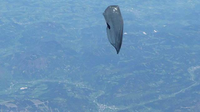 Der Balon stieg rasch auf (Quelle: APA-Foto: Bundesheer)