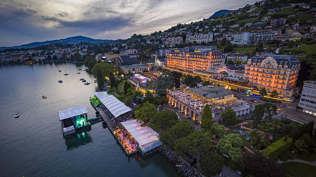 Die Seebühne am Genfersee in Montreux am Freitagabend.
