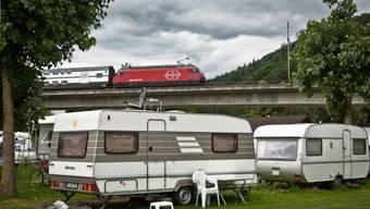 Der Campingplatz Wiggerspitz war auch schon an lauschigeren Plätzen