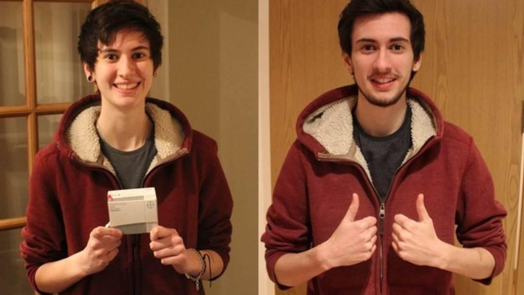 Dieser Teenager macht jeden Tag ein Foto seiner Verwandlung vom Mädchen zum Jungen. Das Ergebnis ist beeindruckend.