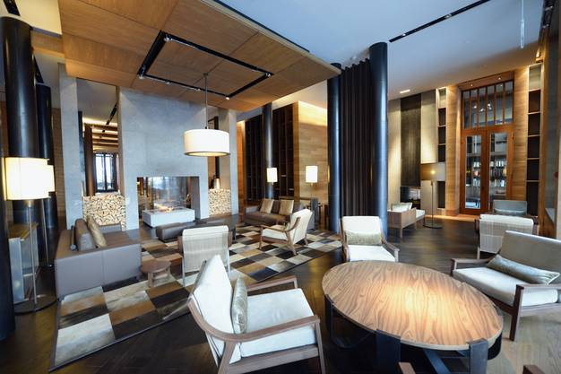 Blick in die luxuriöse Lobby des Nobel-Hotels.