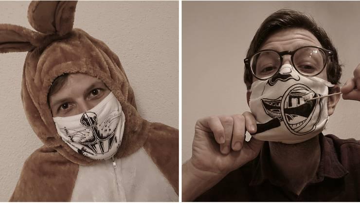 Der Bad Zurzacher Andreas Güntensperger hat im Oktober täglich eine neue Maske gestaltet.