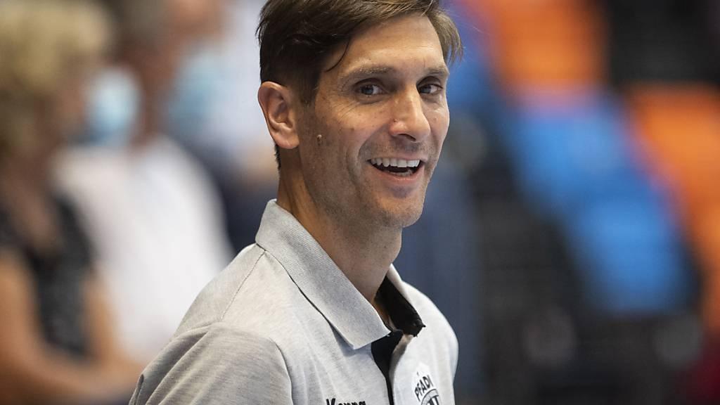 Pfadis Trainer Adrian Brüngger hatte im zweiten Viertelfinalspiel gegen den RTV Basel gut lachen