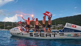Das Schweizer Team erreicht Antigua.
