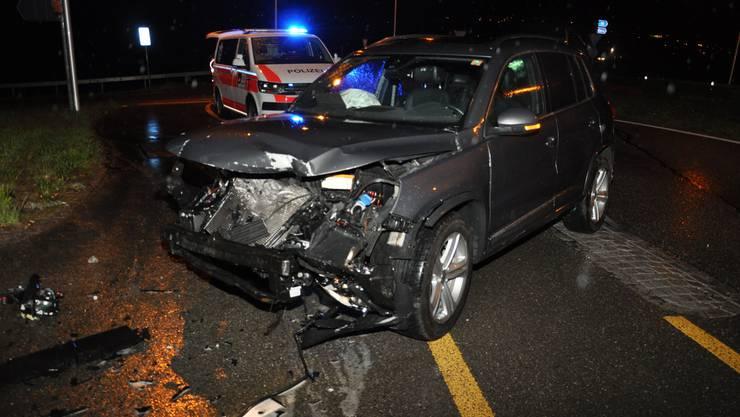 Eine 59-jährige Autolenkerin baut auf der Archstrasse in Grenchen einen Unfall