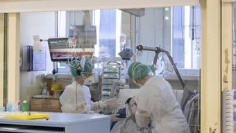 Rundgang durchs Kantonsspital Baden während der Coronapandemie