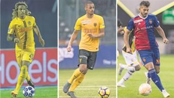 Die drei Fragezeichen: Können Mbabu (YB, l.), Sow (YB, M.) und Ajeti (FCB) die Erwartungen des Nationaltrainers erfüllen?