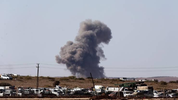 Ein Flugangriff der Amerikaner gegen IS-Ziele.