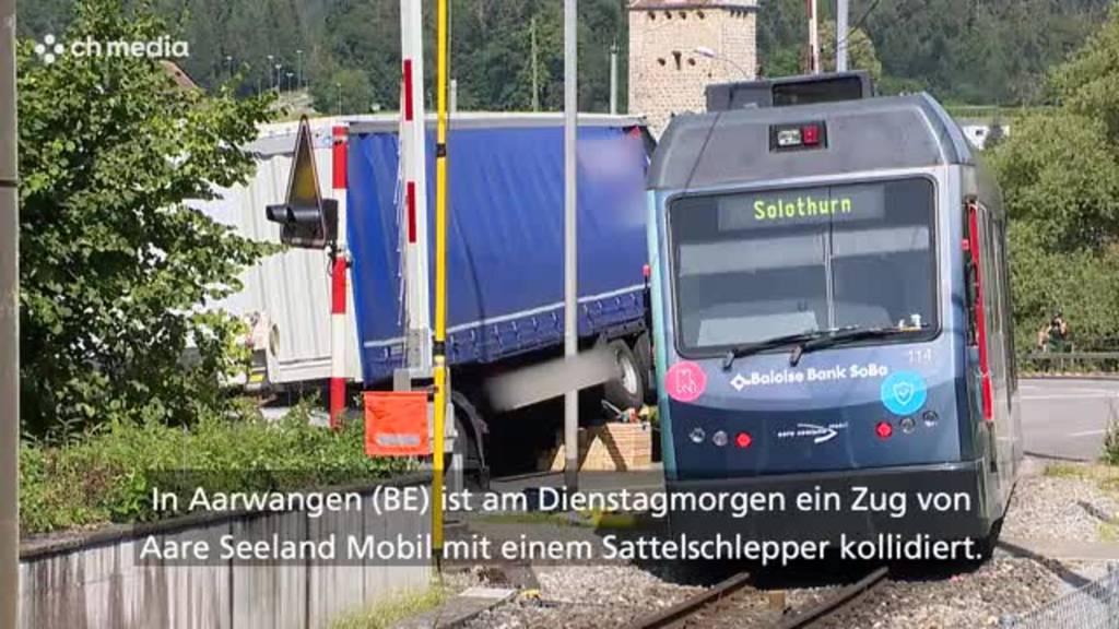 Regionalzug kollidiert in Aarwangen mit LKW –  zwei Leichtverletzte