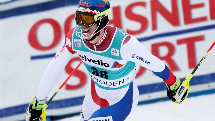 Begeistert: Ramon Zenhäusern nach seinem zweiten Lauf.