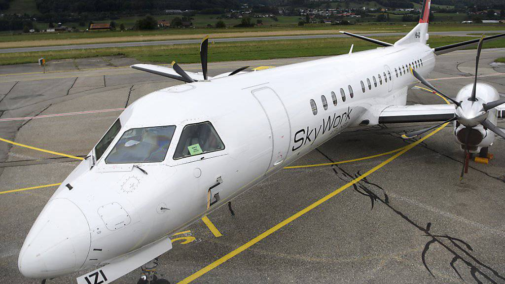 Die Konkurs gegangene Berner Fluggesellschaft Skywork litt permanent an Geldmangel.(Archivbild)