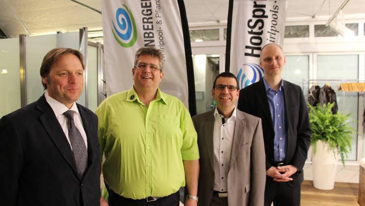 Von links nach rechts: Claudio Wolte, René Leuenberger, Matthias Jauslin, Eugen Voronkov