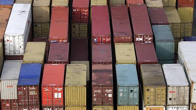 Frachtcontainer in Basel (Symbolbild)