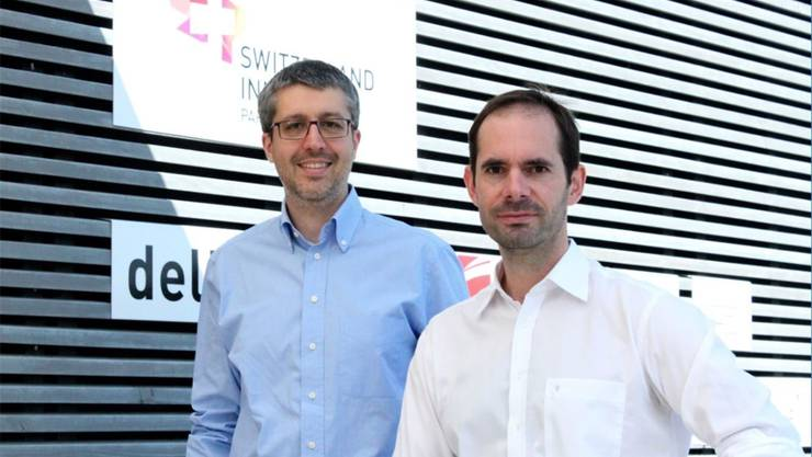 Francesco Colonna, Senior Project Manager Innovation & Funding (links), und Nils Gebhardt, Managing Director. zvg