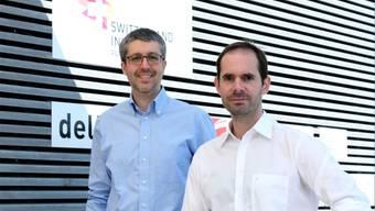 Francesco Colonna, Senior Project Manager Innovation & Funding (links), und Nils Gebhardt, Managing Director. zvg