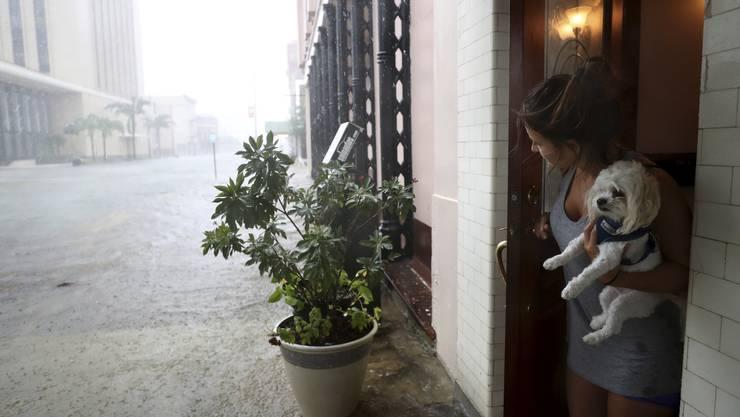 Hurrikan Harvey hat den Südosten von Texas mit massiven Regenfällen heimgesucht.
